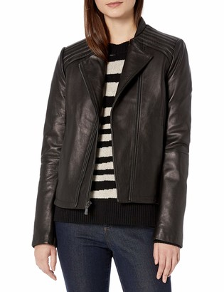 T Tahari Women's Kirsten Fitted Leather Jacket