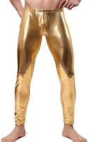 Zhhmeiruian Men's Faux Leather Underwear Long Trousers Pants Clubwear Dance