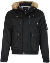 Kangol Men's Bemford Faux Fur Short Hooded Parka Jacket