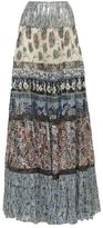 Roberto Cavalli Patch Pleated Maxi Skirt