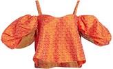 Rosie Assoulin Ra Ra Cold-Shoulder Puff-Sleeve Top
