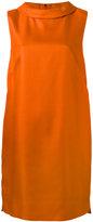 Les Copains folded round collar dress - women - Silk/Viscose - 44