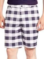 Lacoste Golf Stretch Gingham Plaid Shorts