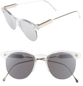 Spitfire Women's Astro 50Mm Retro Sunglasses - Clear/ Gold/ Silver Mirror