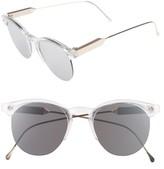 Spitfire Women's Astro 50Mm Retro Sunglasses - Clear/ Gold/ Silver Mirror