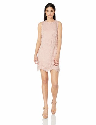Jack by BB Dakota Women's ace of lace Stretch Dress w/Scallop Hem
