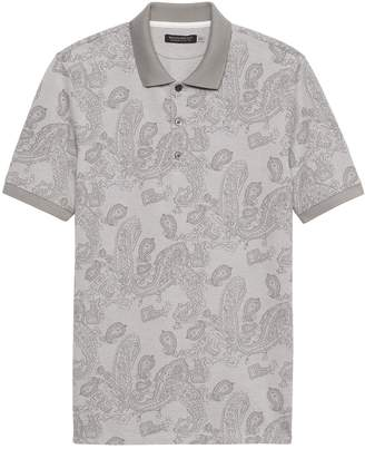 Banana Republic Don't-Sweat-It Print Polo Shirt