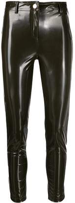 Twin-Set glossy effect skinny trousers