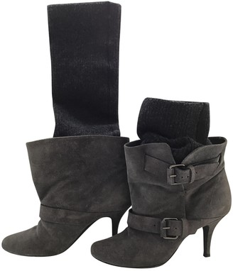 Givenchy Grey Suede Boots