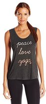 Betsey Johnson Women's Peace Love Yoga Viscose Muscle Tank