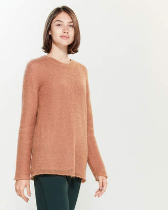 Roberto Collina Open Knit Double Layer Long Sleeve Sweater