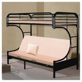 Powell Company 470 C-Style Futon Bunk Bed Black (Twin)