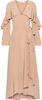 Diane von Furstenberg Alice Ruffled Silk Crepe De Chine Maxi Wrap Dress