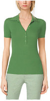 Michael Kors Featherweight Cashmere Polo Henley