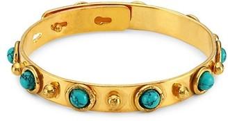 Sylvia Toledano Happy Dots Goldtone Studs & Turquoise Bracelet