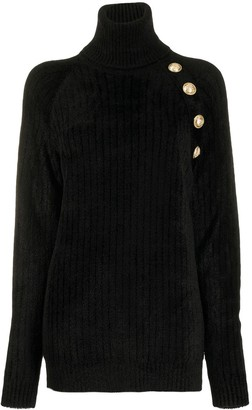 Balmain Decorative Buttons Oversized Jumper