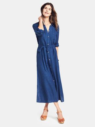 Faherty Dolly Linen Maxi Shirt Dress
