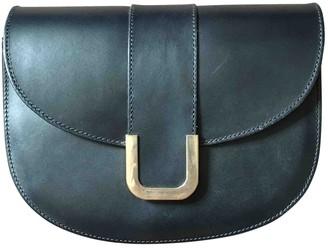 A.P.C. Navy Leather Handbags