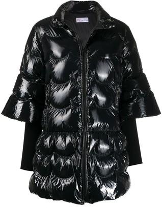 RED Valentino High-Shine Puffer Coat