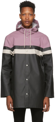 Stutterheim Purple Stockholm Mini Stripe Coat
