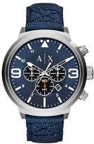 Armani Exchange Stainless Steel Blue Nylon Stray Chronograph, AX1373