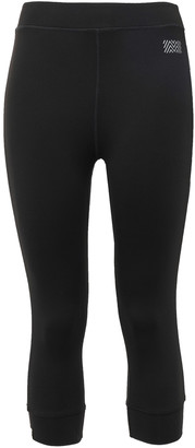 Monreal London Cropped Striped Stretch Leggings