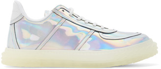 Giuseppe Zanotti Iridescent Leather Blabber Jellyfish Sneakers