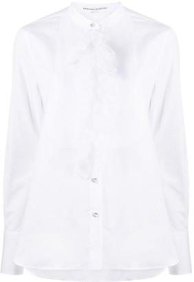 Ermanno Scervino Sheer Ruffle-Trim Shirt