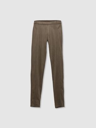 Astars Santa Fe Vegan Leather Leggings - Military Green Suede