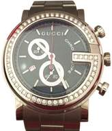 Gucci G-Chrono YA101324 Stainless Steel & Black Guilloche Dial 44mm Mens Watch