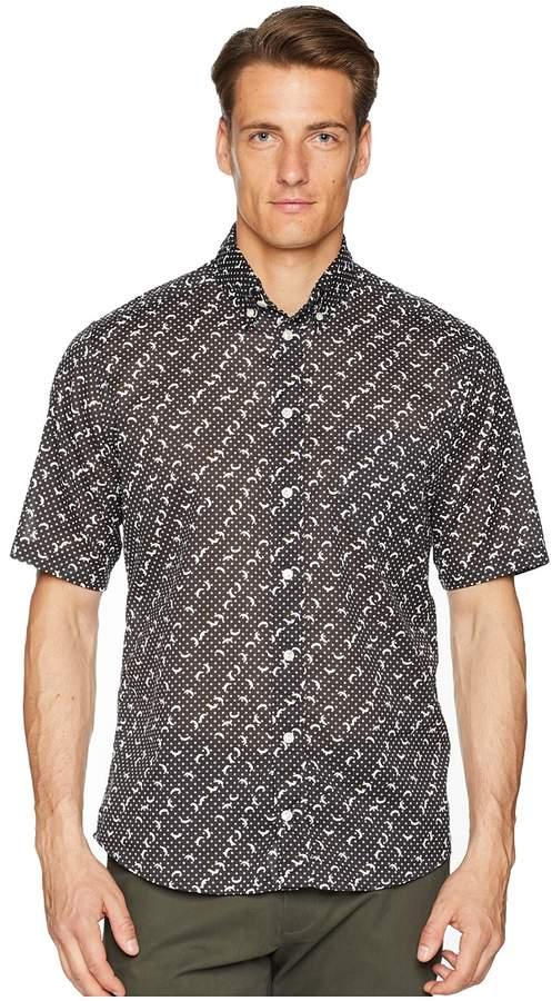 Eton Slim Fit Polka Dot Banana Shirt Men's Long Sleeve Button Up