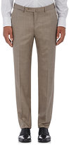 Ermenegildo Zegna Men's Wool-Silk Trousers-BROWN