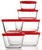 Pyrex Plus 12 Piece Food Storage Container Set