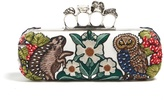 Alexander McQueen Medieval Animal-embroidered knuckle clutch