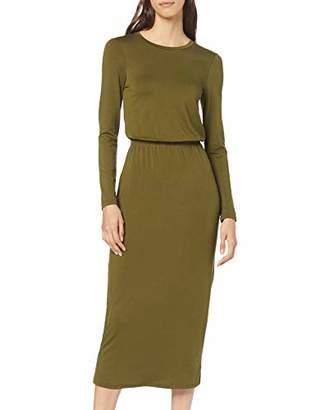 find. Elastic Waist Jersey Maxi Dress Casual (Green), (Size:M)