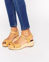 Swedish Hasbeens Tan Leather Tutti Frutti Debutant Sandals