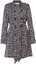 Damsel in a Dress Roaming Leopard Trench Coat