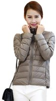 Marrikey Ultra-light Ms Paragraphs Thin Female Short Down Jacket Collar Winter Type Plus-size Women's Coat with Natural Down