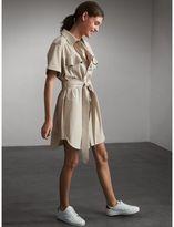 Burberry Tie-waist Cotton Shirt Dress