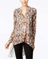 Catherine Malandrino Catherine Printed Livy High-Low Blouse