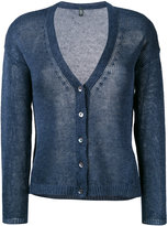 Eleventy buttoned cardigan - women - Linen/Flax - S