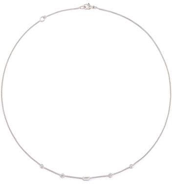 David Yurman Novella 18k Mini Diamond Station Necklace