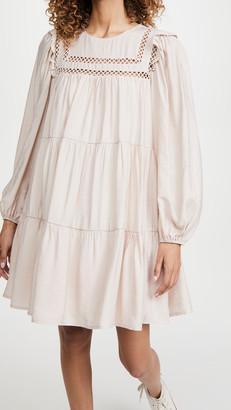 ENGLISH FACTORY Ruffle Mini Dress