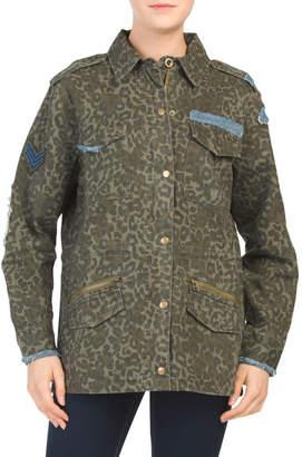 Juniors Camo Anorak Jacket