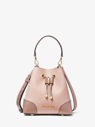 MICHAEL Michael Kors Mercer Gallery Extra-Small Color-Block Pebbled Leather Crossbody Bag