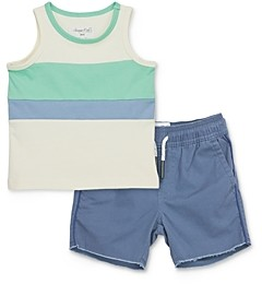Sovereign Code Boys' Enoch Color-Blocked Stripe Tank Top & Julius Piped Shorts Set - Baby