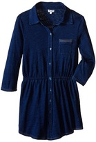 Splendid Littles Indigo Knit Shirt Dress (Big Kids)