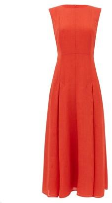 Cefinn - Melina Voile Midi Dress - Womens - Red