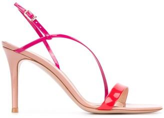 Gianvito Rossi Manhattan tri-colour sandals