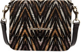 Elaine Turner Designs Brie Fabric Crossbody Bag, Black/Multi